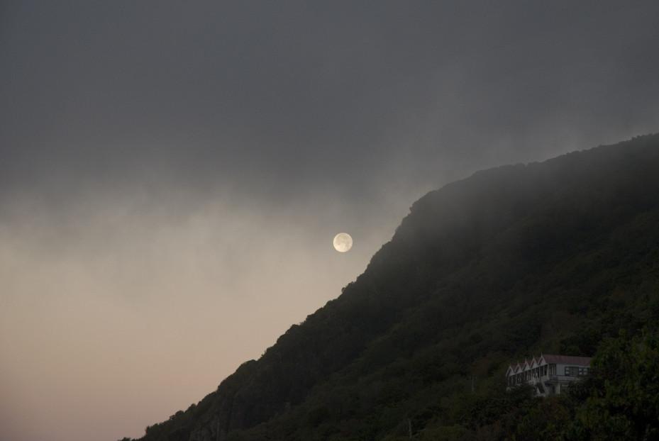Volle maan op Saba